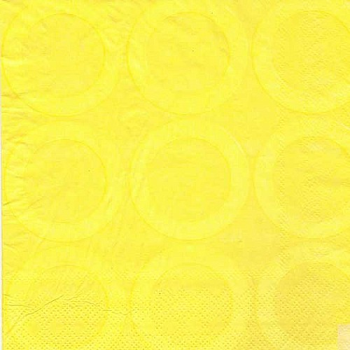 A pack of 12 by 12 inch Decoupage Napkins(5 pcs)  - Retro Circles