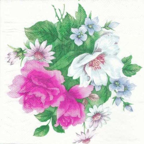 A pack of 12 by 12 inch Decoupage Napkins(5 pcs)  - Floral Design 13