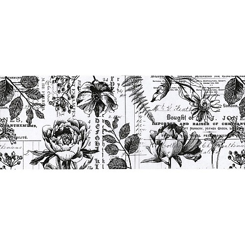 TimHoltz IdeaOlogy Collage Paper 6yds - Botanical