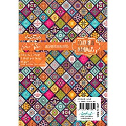 CrafTangles Deco Thin Decoupage Paper A3 (45 gsm) - Colourful Mandalas - 2 sheets