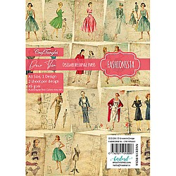 CrafTangles Deco Thin Decoupage Paper A3 (45 gsm) - Fashionista - 2 sheets