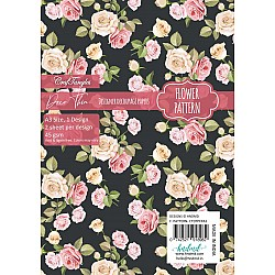 CrafTangles Deco Thin Decoupage Paper A3 (45 gsm) - Flower Pattern - 2 sheets