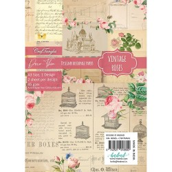 CrafTangles Deco Thin Decoupage Paper A3 (45 gsm) - Vintage Roses - 2 sheets