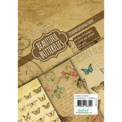 CrafTangles Decoupage Paper Pack  - Beautiful Butterflies (A4) - 4 sheets