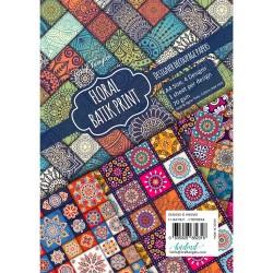 CrafTangles Decoupage Paper Pack  - Floral Batik Print (A4) - 4 sheets