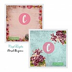 CrafTangles Decoupage Paper Pack  - Floral Elegance (12 by 12 inch) - 4 sheets