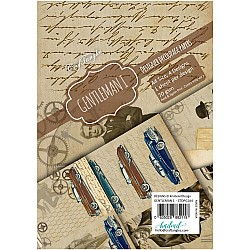 CrafTangles Decoupage Paper Pack  - Gentleman 1 (A4) - 4 sheets