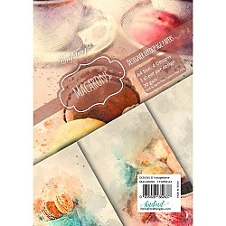 CrafTangles Decoupage Paper Pack  - Macarons (A4) - 4 sheets