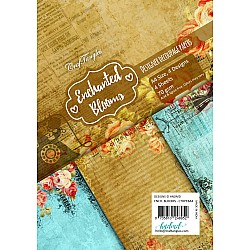 CrafTangles Decoupage Paper Pack  - Enchanted Blooms (A4) - 4 sheets