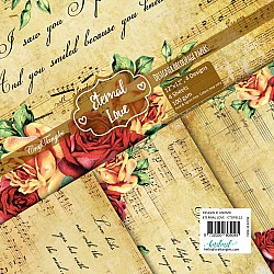 CrafTangles Decoupage Paper Pack  - Eternal Love (12 by 12 inch) - 4 sheets