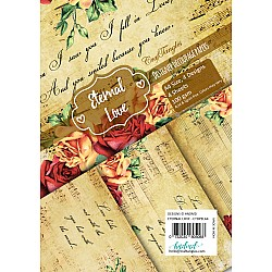 CrafTangles Decoupage Paper Pack  - Eternal Love (A4) - 4 sheets