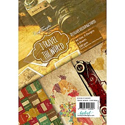 CrafTangles Decoupage Paper Pack  - I Travel the World (A4) - 4 sheets