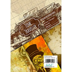 CrafTangles Decoupage Paper Pack  - Time Traveller (A4) - 4 sheets