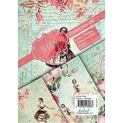 CrafTangles Decoupage Paper Pack  - Oh Ballet (A4) - 4 sheets