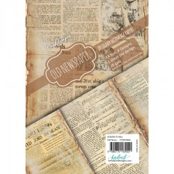 CrafTangles Decoupage Paper Pack  - Old Newspaper (A4) - 4 sheets