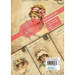 CrafTangles Decoupage Paper Pack  - Pretty Women 1 (A4) - 4 sheets