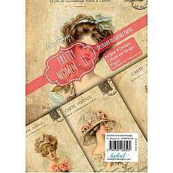 CrafTangles Decoupage Paper Pack  - Pretty Women 2 (A4) - 4 sheets
