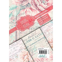 CrafTangles Decoupage Paper Pack  - Spring Please (A4) - 4 sheets