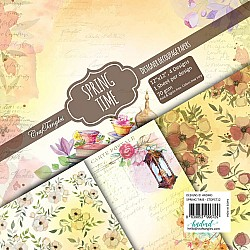 CrafTangles Decoupage Paper Pack  - Spring Time (12 by 12 inch) - 4 sheets