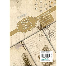 CrafTangles Decoupage Paper Pack  - Vintage Cars 2 (A4) - 4 sheets