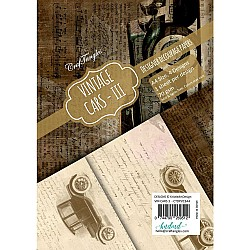 CrafTangles Decoupage Paper Pack  - Vintage Cars 3 (A4) - 4 sheets