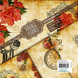 CrafTangles Decoupage Paper Pack  - Vintage Essence (12 by 12 inch) - 4 sheets