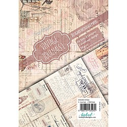 CrafTangles Decoupage Paper Pack  - Vintage Journals 1 (A4) - 4 sheets