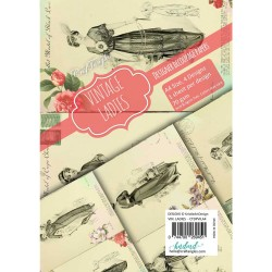 CrafTangles Decoupage Paper Pack  - Vintage Ladies (A4) - 4 sheets
