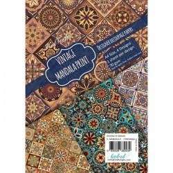 CrafTangles Decoupage Paper Pack  - Vintage Mandala Print (A4) - 4 sheets