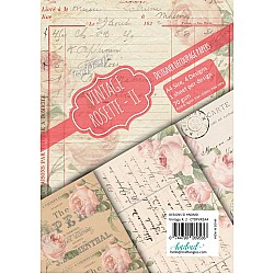 CrafTangles Decoupage Paper Pack  - Vintage Rosette 2 (A4) - 4 sheets