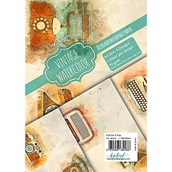 CrafTangles Decoupage Paper Pack  - Vintage Watercolor (A4) - 4 sheets