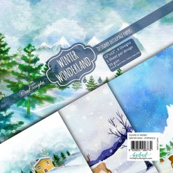 CrafTangles Decoupage Paper Pack  - Winter Wonderland (12 by 12 inch) - 4 sheets