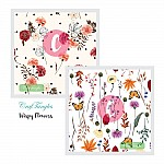CrafTangles Decoupage Paper Pack  - Wispy Flowers (12 by 12 inch) - 4 sheets