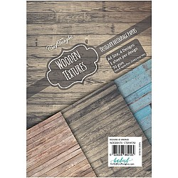 CrafTangles Decoupage Paper Pack  - Wooden Textures (A4) - 4 sheets