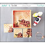 CrafTangles Decoupage Paper Pack  - Aged Beauty (12 by 12 inch) - 4 sheets