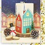 CrafTangles Decoupage Paper Pack  - Christmas Time (A4) - 4 sheets