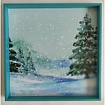 CrafTangles Decoupage Paper Pack - Winter Watercolor (A4) - 4 sheets