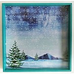 CrafTangles Decoupage Paper Pack  - Winter Watercolor (12 by 12 inch) - 4 sheets