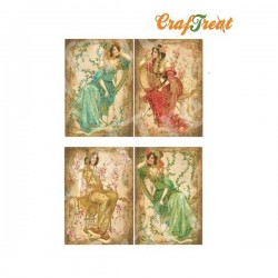 CrafTreat Decoupage Paper - Pretty Ladies