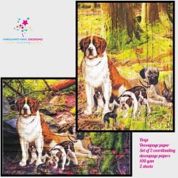 Nakshathra Designz Decoupage paper - Dogs
