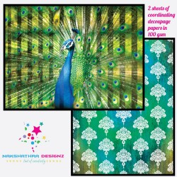 Nakshathra Designz Decoupage paper - Elegant peacock