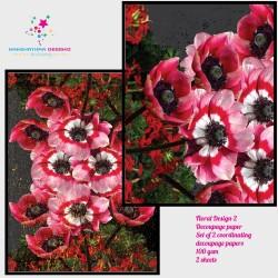 Nakshathra Designz Decoupage paper - Floral Design 2