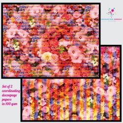 Nakshathra Designz Decoupage paper - Floral Texture