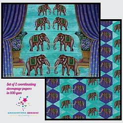 Nakshathra Designz Decoupage paper - Traditional Elephants
