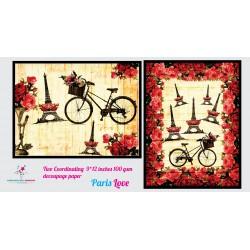 Nakshathra Designz Decoupage paper - Paris Love
