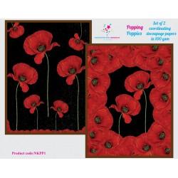 Nakshathra Designz Decoupage paper - Popping Poppies