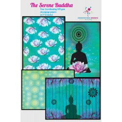Nakshathra Designz Decoupage paper - Serene Buddha