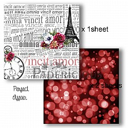 Papericious Decoupage Paper Pack  - Perfect Affair (6 by 6 inch) - 3 sheets