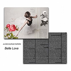 Papericious Decoupage Paper Pack  - Belle Love (A4) - 2 sheets