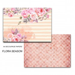 Papericious Decoupage Paper Pack  - Flora Season (A4) - 2 sheets
